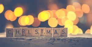 Ordet christmas i alfapetbrickor